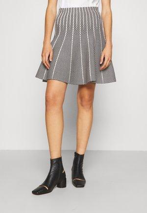 HACIENDA SKIRT - Pleated skirt - black/nature