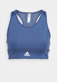 Light support sports bra - blue/white