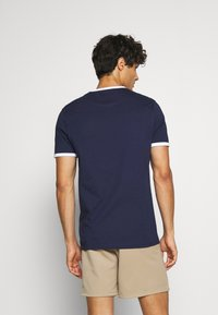 Lyle & Scott - RINGER TEE - T-shirt - bas - navy/white
