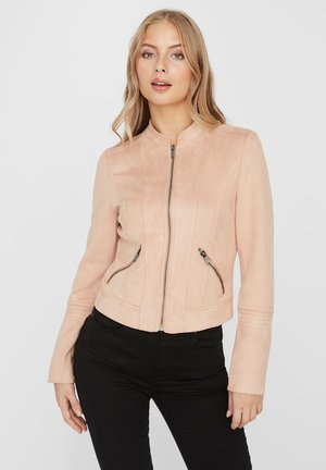 Faux leather jacket - mahogany rose