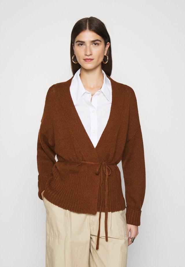 TALL CARDI - Vest - brown