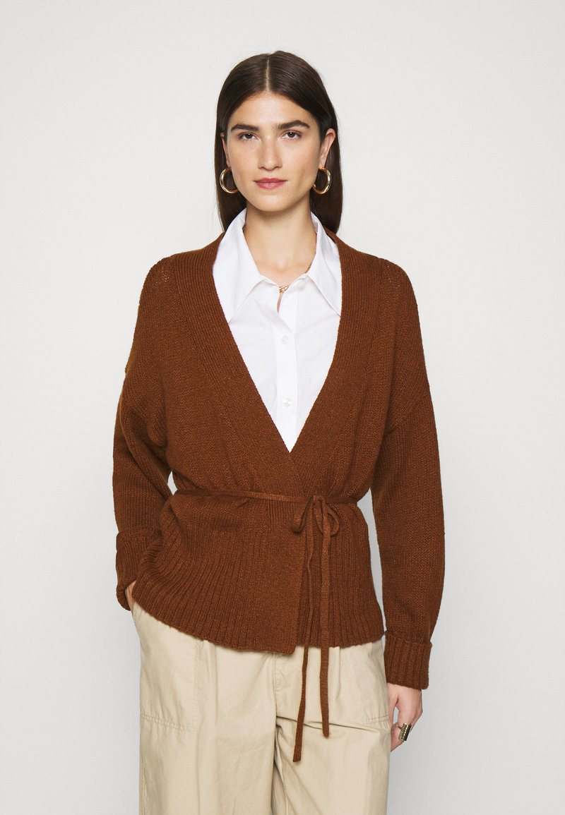 Abercrombie & Fitch - TALL CARDI - Cardigan - brown