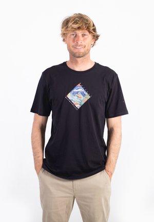 EVD WSH SENDY SS - Print T-shirt - black
