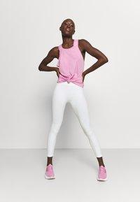 Nike Performance - DRY ELASTIKA TANK - Sports shirt - beyond pink/white - 1