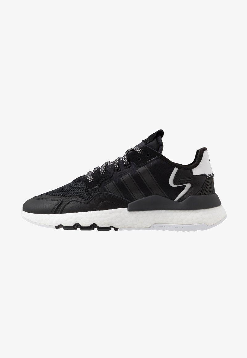 adidas Originals - NITE JOGGER - Matalavartiset tennarit - core black/carbon