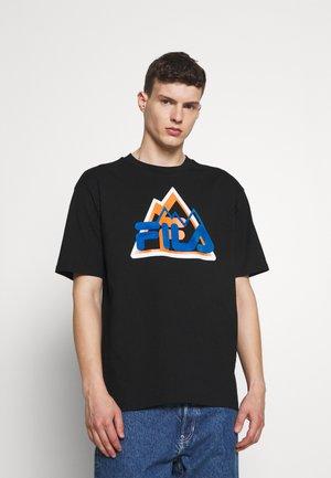 YORICK GRAPHIC TEE - Majica kratkih rukava s printom - black