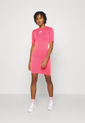 AIR DRESS - Shift dress - fireberry/bright mango/white