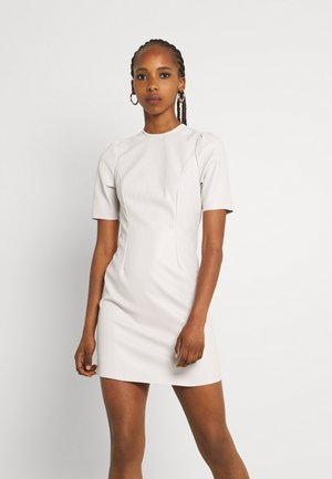 NMHILL SHORT DRESS - Day dress - crystal grey