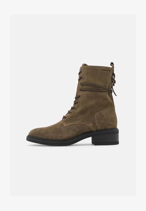 Lace-up ankle boots - olive