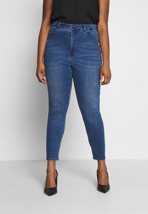 BELINDA HIGH RISE ANKLE GRAZER - Jeans Skinny Fit - royal blue