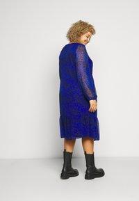 Evans - ANIMAL DRESS - Day dress - blue - 2