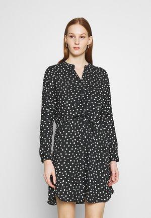 Shirt dress - black/dots