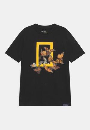BOY NATIONAL GEOGRAPHIC  - Print T-shirt - true black