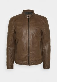Strellson - DERRY - Leather jacket - tobacco - 4