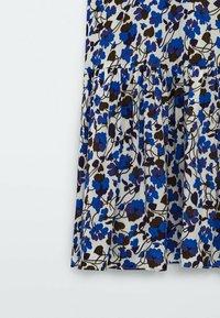 Massimo Dutti - MIT BLUMENPRINT  - Maxi dress - blue - 6