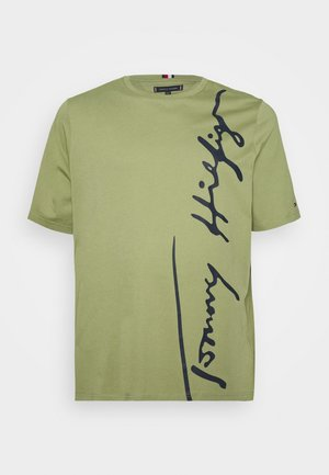 COOL LARGE SIGNATURE TEE - Print T-shirt - green