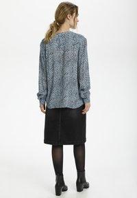 Kaffe - Button-down blouse - chambray blue, black dot - 2