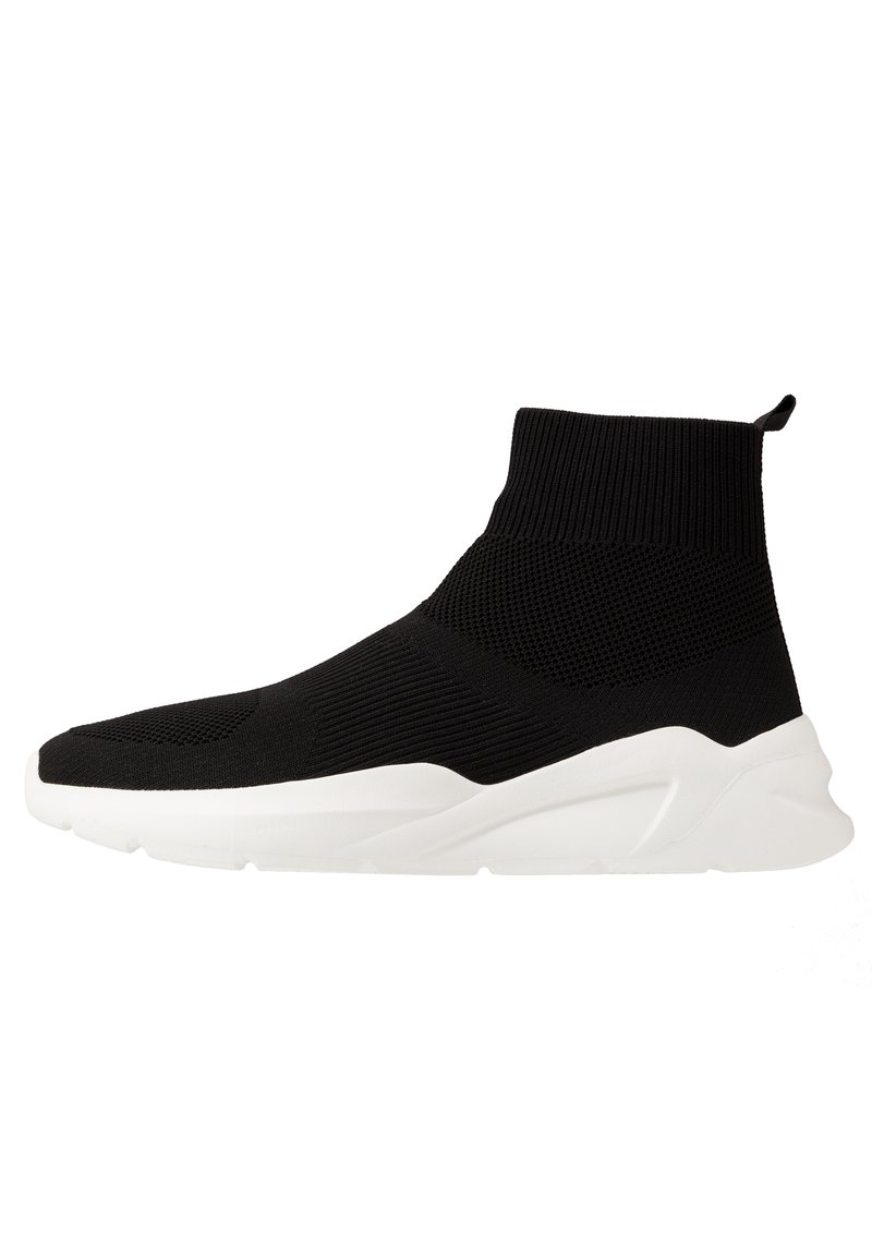 Pier One - High-top trainers - black/white