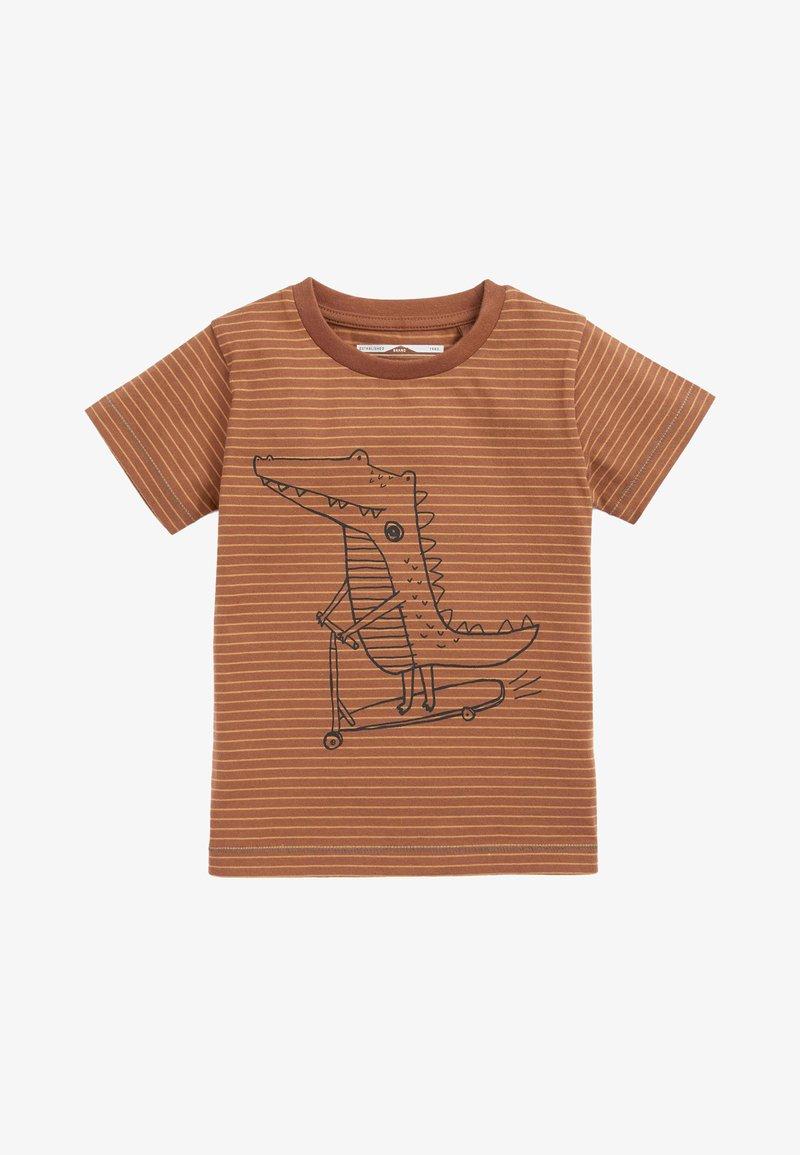 Next - Print T-shirt - brown