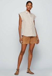 BOSS - BEMIRTA - Button-down blouse - beige - 1