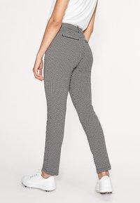 Röhnisch - SMOOTH  - Trousers - black/white check - 3