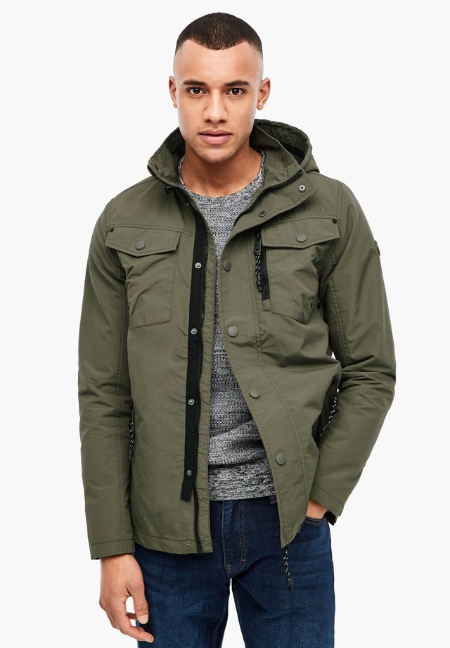 MIT KAPUZE - Outdoor jacket - khaki