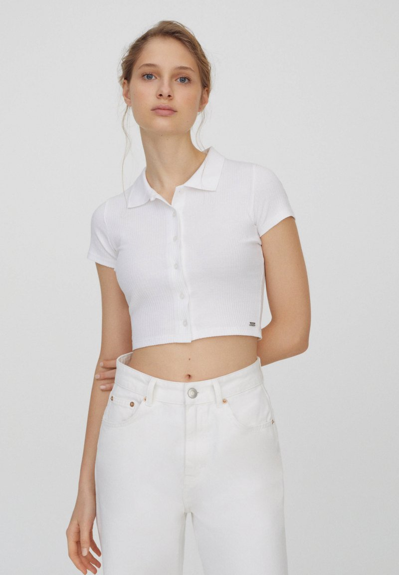 PULL&BEAR - Button-down blouse - white