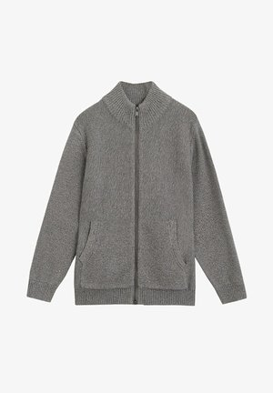 DAVID - Cardigan - gris chiné moyen