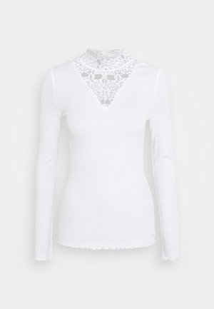 LONGSLEEVE WITH MOCK NECK - Long sleeved top - off white