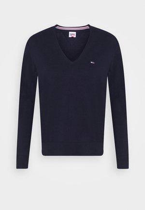 SOFT TOUCH V NECK  - Sweter - dark blue