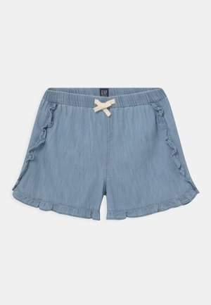 GIRL DOLPHIN RUFFLE - Shorts - light-blue denim