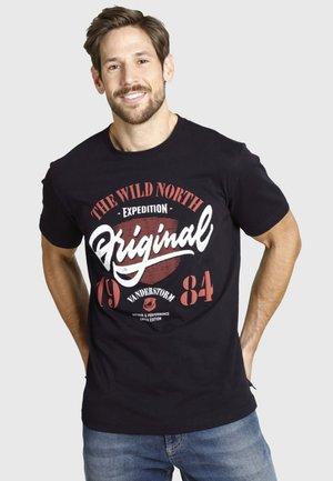 DORMOD - Print T-shirt - black