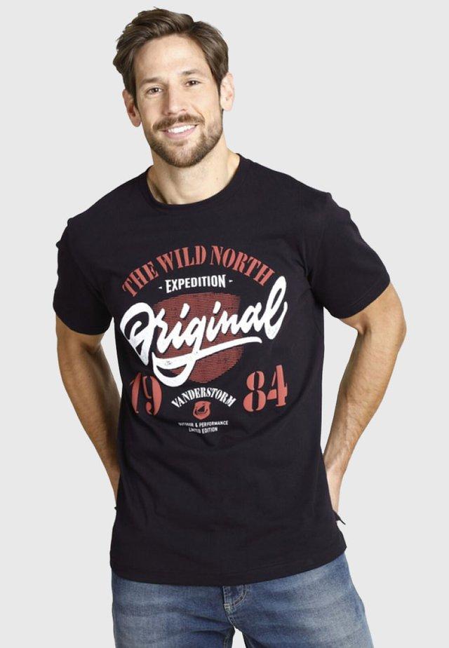 DORMOD - T-shirt imprimé - black