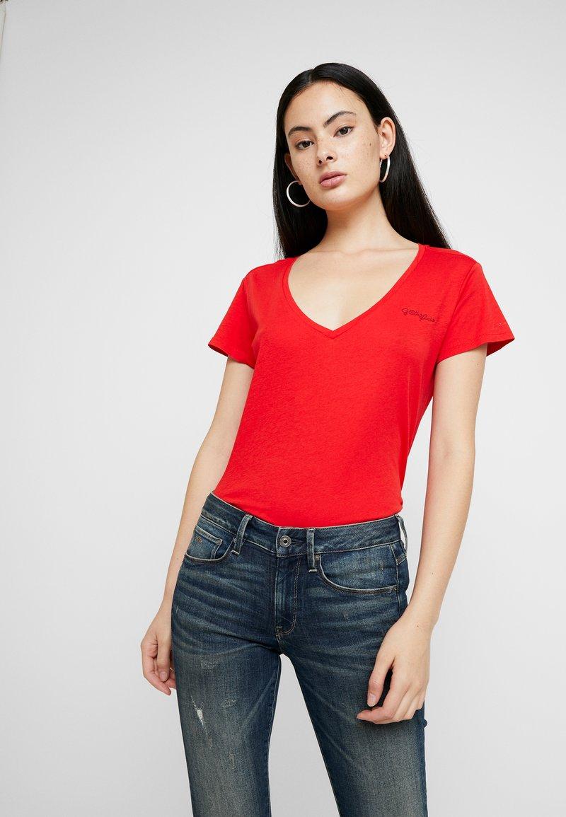 G-Star - GRAPHIC LOGO - T-shirt - bas - acid red
