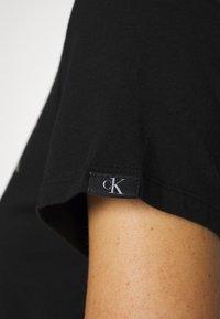 Calvin Klein Underwear - LOUNGE NIGHTSHIRT - Negligé - black - 4