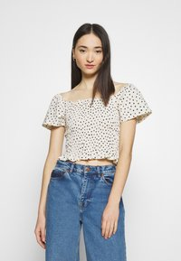 Monki - RIVA  - Print T-shirt - white dusty light - 2