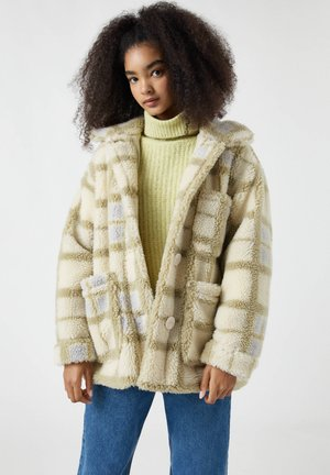 Winter jacket - mottled beige