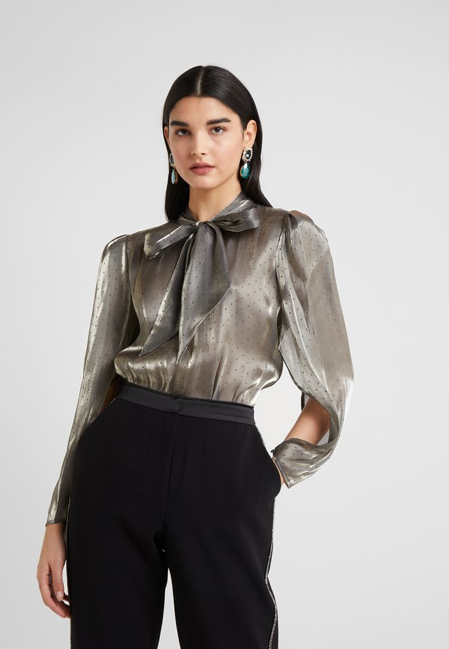 STELLA - Blouse - pewter metallic