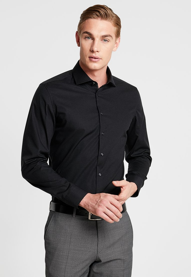 Seidensticker - SLIM SPREAD KENT PATCH - Formal shirt - black