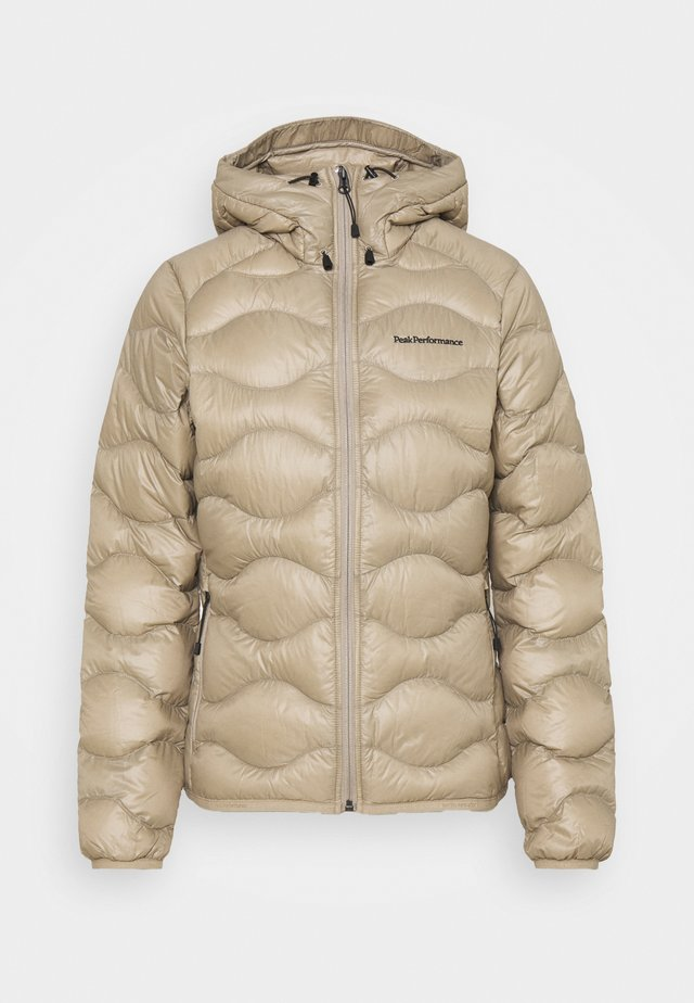 HELIUM HOOD JACKET - Down jacket - true beige