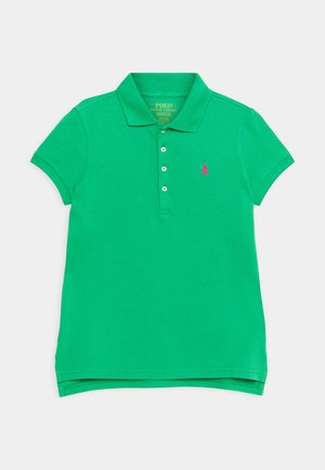 Polo shirt - golf green/accent pink