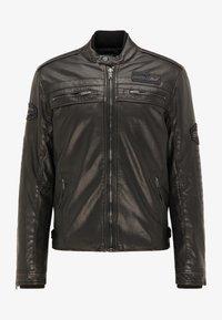 Petrol Industries - BIKERJACKE - Leather jacket - black - 4