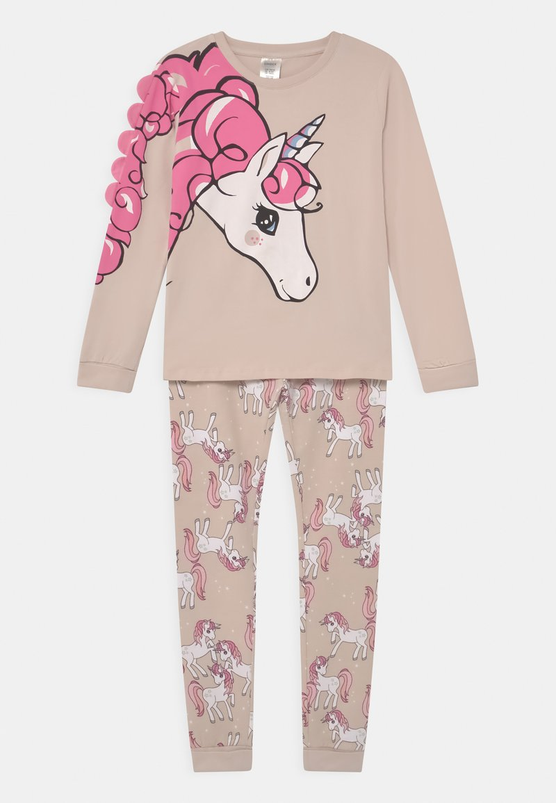Lindex - PLACED UNICORN - Pyjama set - light beige