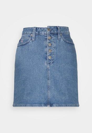PRIDE SKIRT - Mini skirt - denim medium