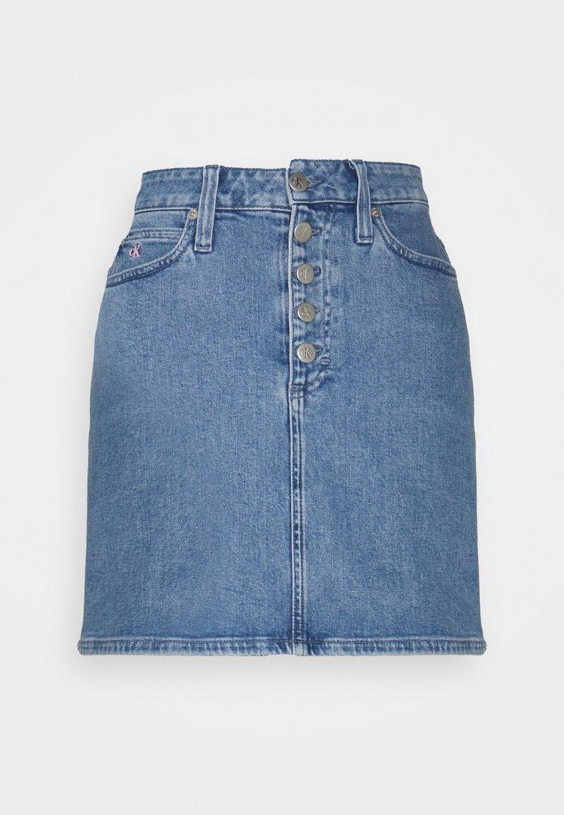 Calvin Klein Jeans - PRIDE SKIRT - Mini skirt - denim medium