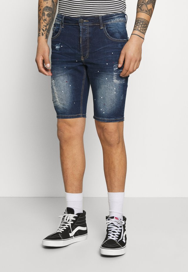 ROSSI  - Short en jean - indigo