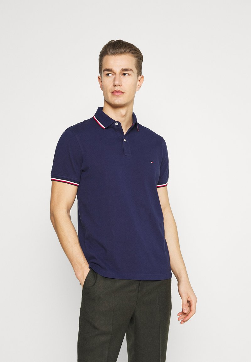 Tommy Hilfiger - TIPPED SLIM - Polo - yale navy
