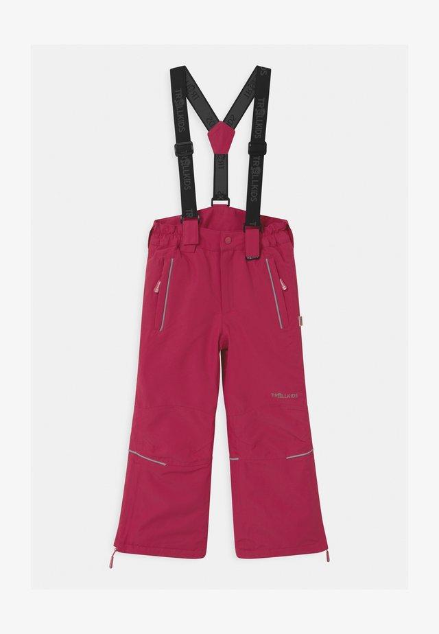 KIDS HOLMENKOLLEN SNOW SLIM FIT UNISEX - Pantalon de ski - rubine-magenta