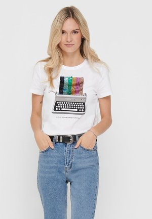 VORDERPRINT - Camiseta estampada - bright white