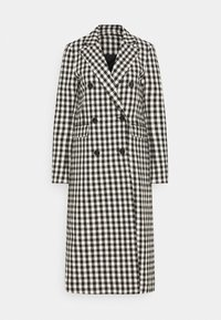 DUSTER CHECK - Classic coat - black